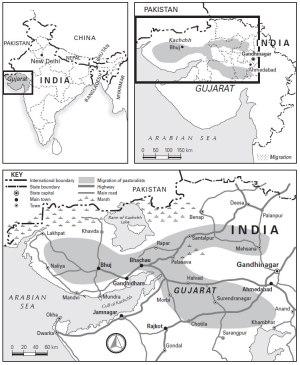 map of Gujarat
