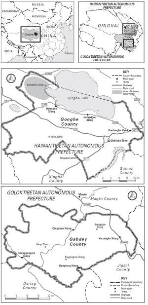 Map of Amdo Tibet